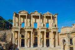古老古色古香的市Efes,以弗所废墟 免版税库存照片