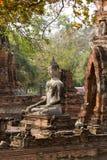 古老古色古香的菩萨雕象 库存照片