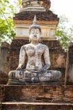 古老古色古香的菩萨雕象 库存图片