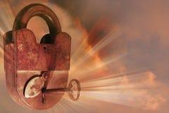 古老古色古香的锁 库存图片