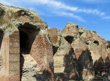 古老古色古香的镇废墟 免版税库存图片