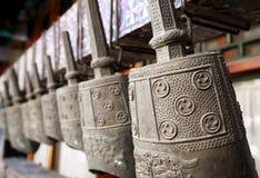 古老古铜色编钟汉语 免版税图库摄影