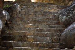 古老台阶 免版税库存图片