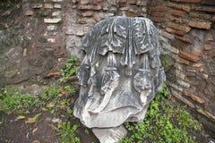 古老和著名罗马论坛的废墟在市罗马 免版税图库摄影