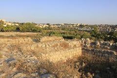 古老和biblcal市废墟Beit Shemesh 免版税图库摄影