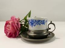 古老咖啡杯 库存照片