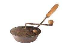 古老咖啡烘烤器 图库摄影