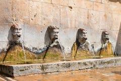 古老喷泉 免版税库存图片