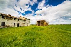 古老国家被破坏的房子 图库摄影