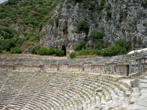 古老圆形剧场的废墟 库存图片
