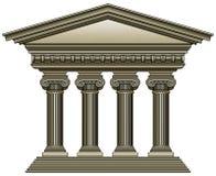 古老圆柱状结构 免版税库存照片