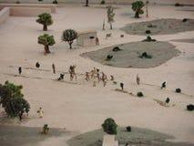古老土产镇缩样在利马,秘鲁 库存照片