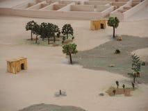 古老土产镇缩样在利马,秘鲁 免版税图库摄影