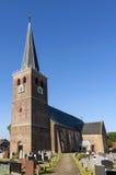 古老圣马丁教会在Hallum,荷兰 库存照片