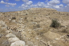 古老圣经的市Lachish,今天Tel Lachish废墟  库存图片