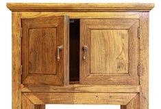 古老在白色背景隔绝的设计树木繁茂的碗柜,lef 库存照片