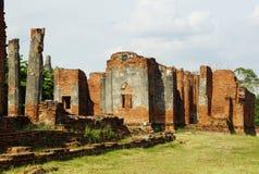 古老在Ayutthaya,泰国的塔&废墟 库存图片
