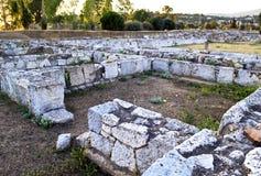 古老在Eretria希腊 免版税库存图片