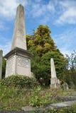 古老坟园 库存图片