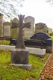 古老坟墓在Drumbo教区教堂公墓在Drumbo唐郡村庄在北爱尔兰 库存照片