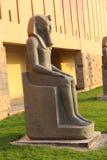 古老埃及国王雕象,埃及的卢克索博物馆 免版税图库摄影