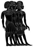 古老埃及妇女 向量例证