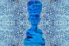 古老埃及法老王雕象 免版税图库摄影