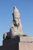 古老埃及狮身人面象 库存图片
