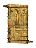 古老埃及纸莎草卷 库存例证