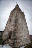 古老城堡在Iverskaya顶部或者Anakopian,在新阿丰,阿布哈兹附近的山 免版税库存图片