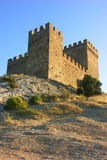 古老城堡小山石头 库存照片