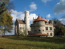 古老城堡德国10月天空 免版税库存图片