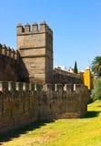 古老城市回教塞维利亚墙壁 库存图片