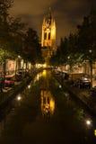 古老城市在晚上之前 免版税图库摄影