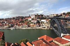 古老城市波尔图葡萄牙视图 免版税库存照片