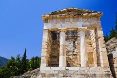 古老城市特尔斐希腊废墟 库存照片