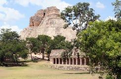古老城市玛雅人uxmal的墨西哥 免版税库存照片