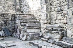古老城市的废墟 免版税库存图片