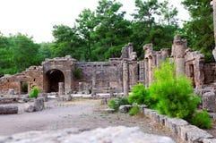 古老城市被破坏的土耳其 库存图片
