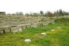 古老城市破坏troia 免版税图库摄影