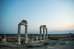 古老城市hierapolis pamukkale火鸡 库存图片