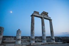 古老城市hierapolis pamukkale火鸡 免版税库存图片
