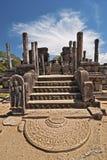 古老城市lanka柱子polonnaruwa破坏sri 库存图片