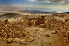 古老城市masada 库存图片