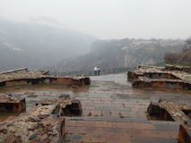 古老基督徒寺庙的废墟在Garni,亚美尼亚 免版税图库摄影