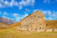古老基督徒Thaba-Erdy寺庙和Cau美好的风景  免版税库存图片