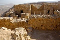 古老堡垒以色列masada废墟 库存图片