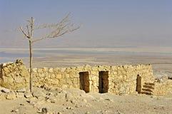 古老堡垒以色列masada废墟 免版税库存照片