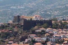 古老堡垒和城市 丰沙尔马德拉岛葡萄牙 免版税库存图片