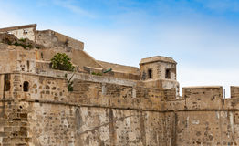 古老堡垒在老麦地那 更加气味强烈的摩洛哥 库存图片